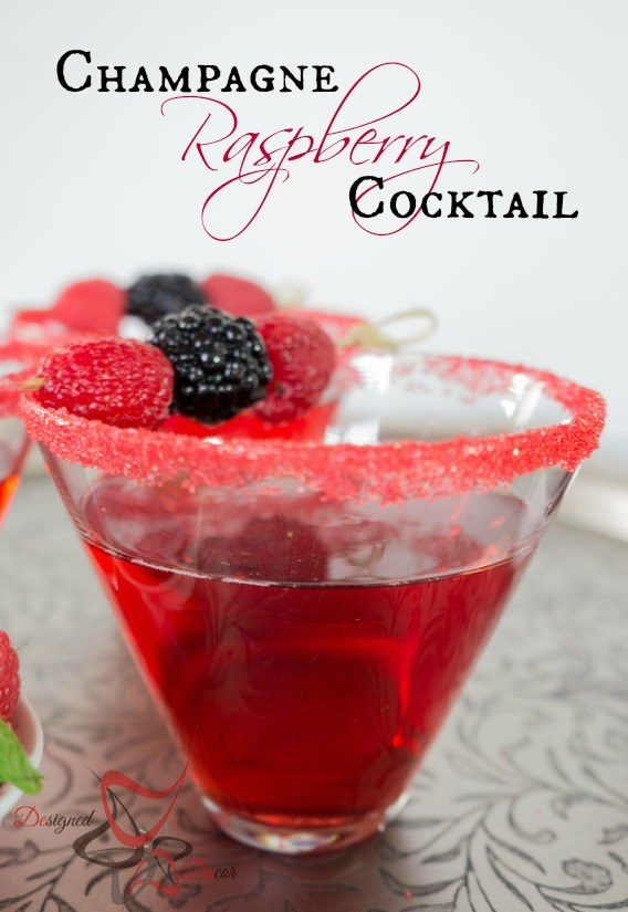 Champagne Raspberry Cocktail