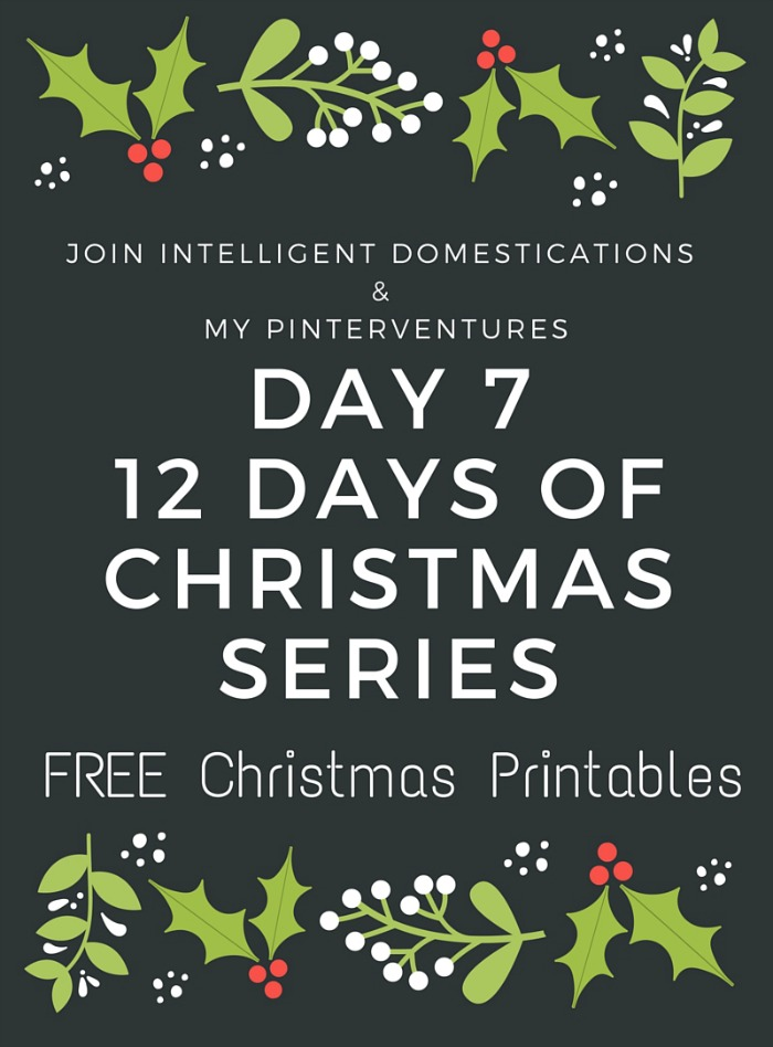 photograph relating to 12 Days of Christmas Printable called 12 Times of Xmas - Totally free Xmas Printable