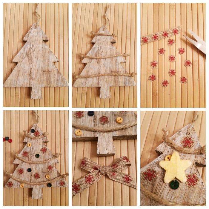 directions diy rustic christmas ttee ornament tutorial - Rustic Christmas Ornaments
