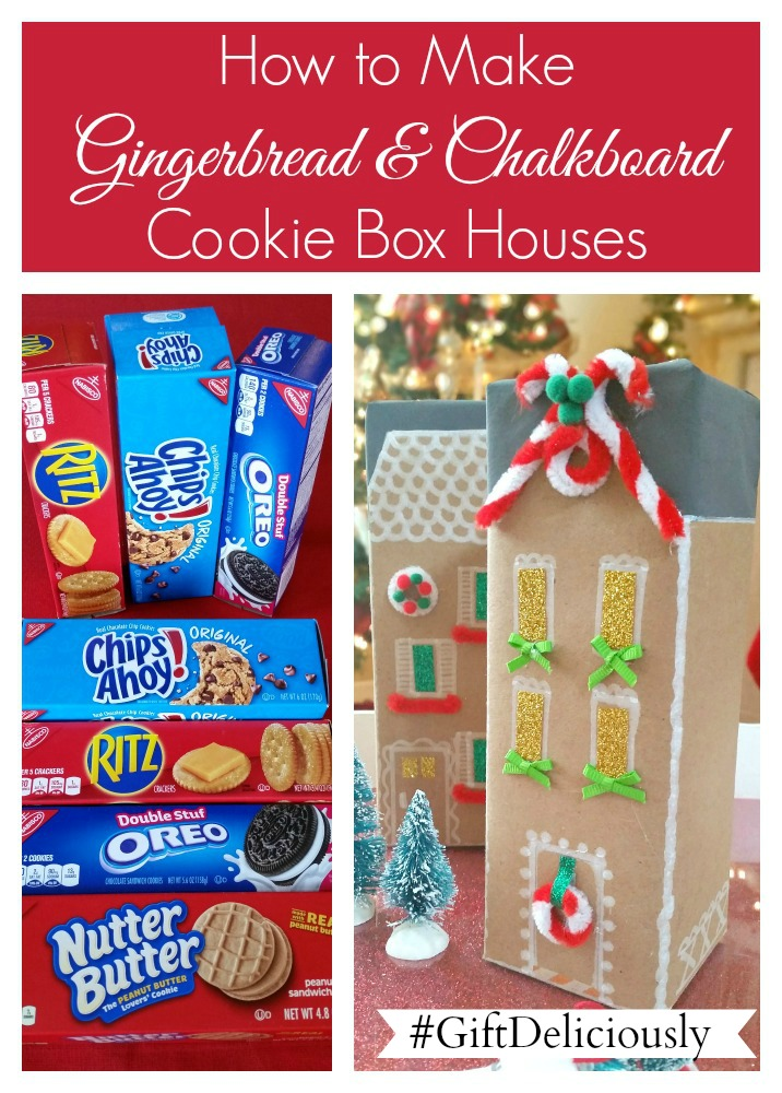 How to Make Gingerbread and Chalkboard Cookie Box Houses