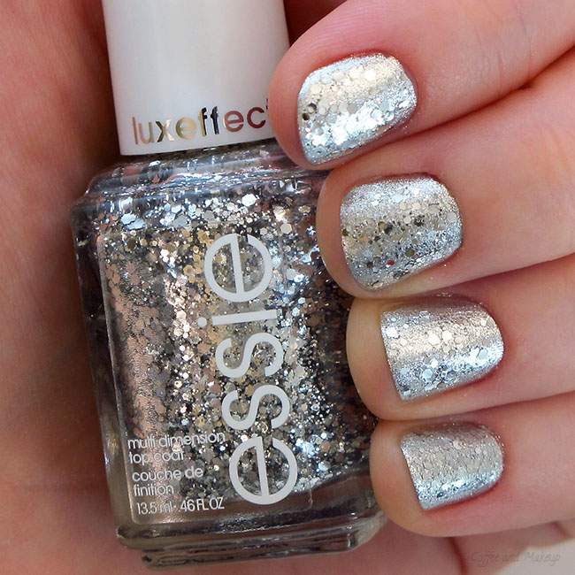 Sparkly Silver New Year's Nails