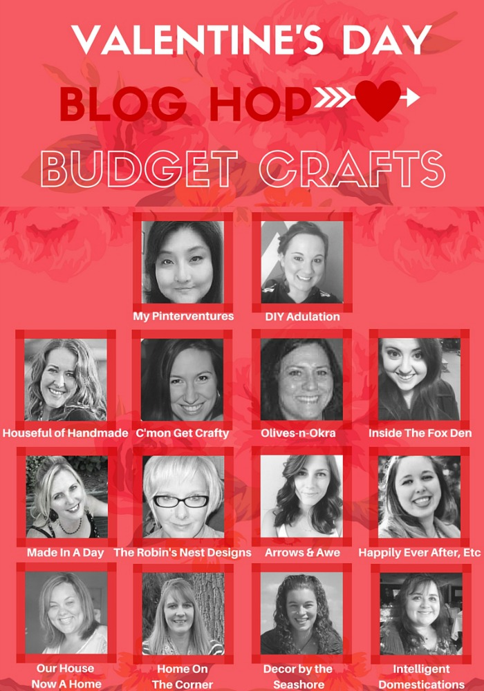 Valentine's Day Blog Hop Budget Crafts