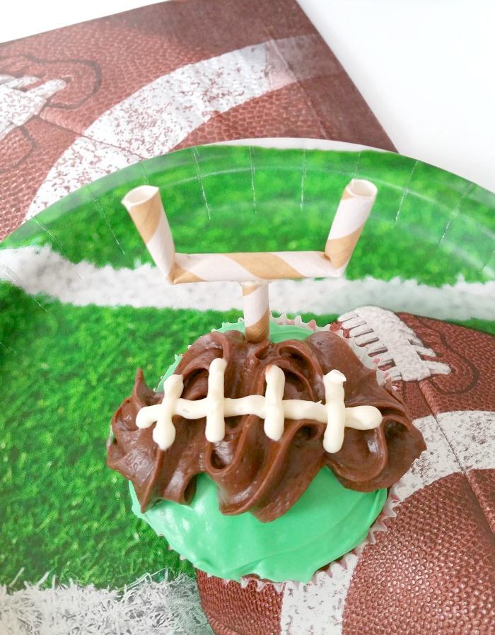simple football cupcakes