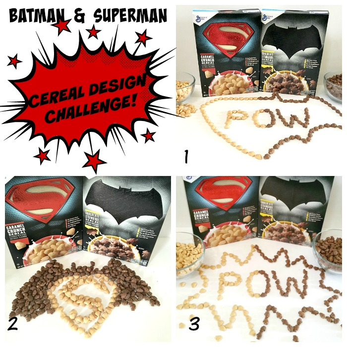 Batman & Superman Cereal Design Challenge