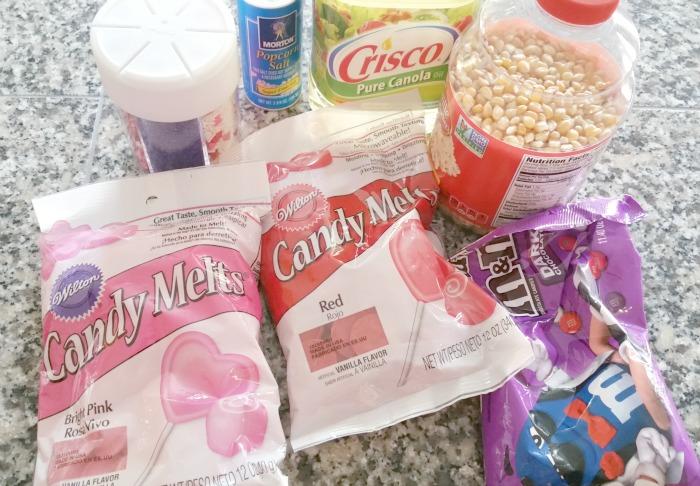 Valentine's Day Gourmet Popcorn Ingredients