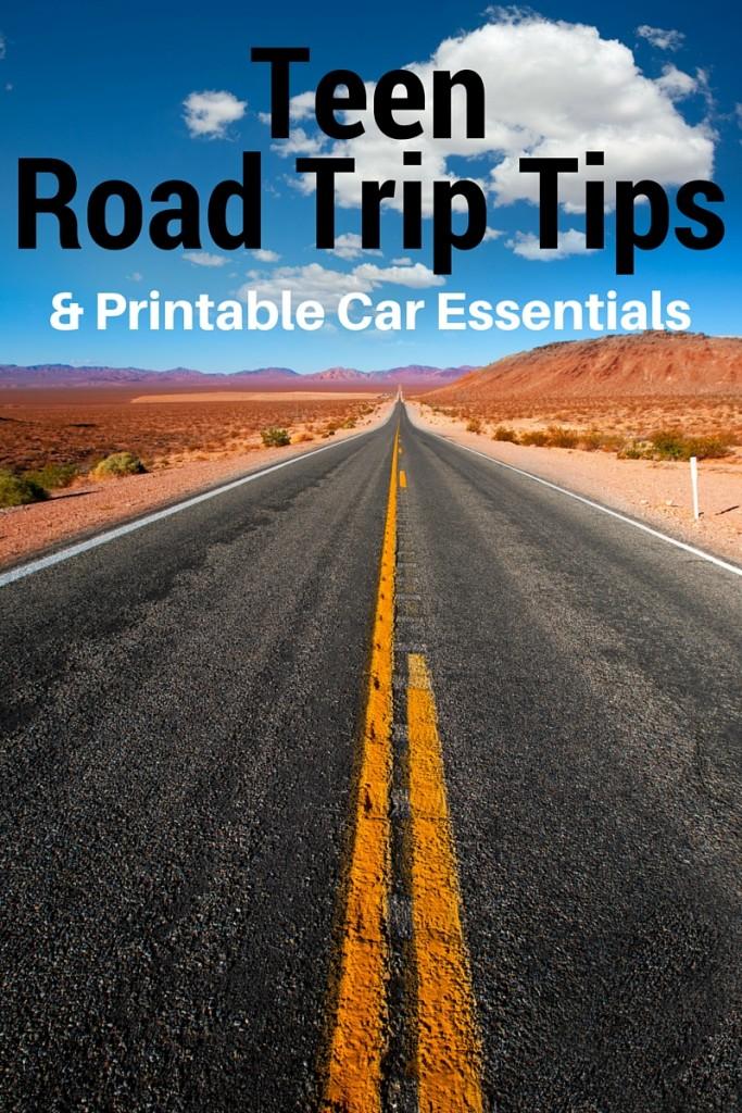 Teen Road Trip Tips Printable Car Essentials Giveaway My Pinterventures