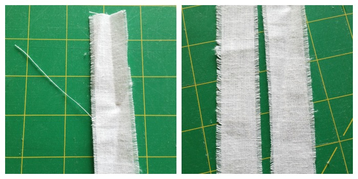 Fray fabric strips