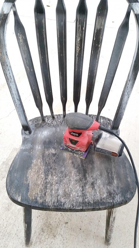weathered chair