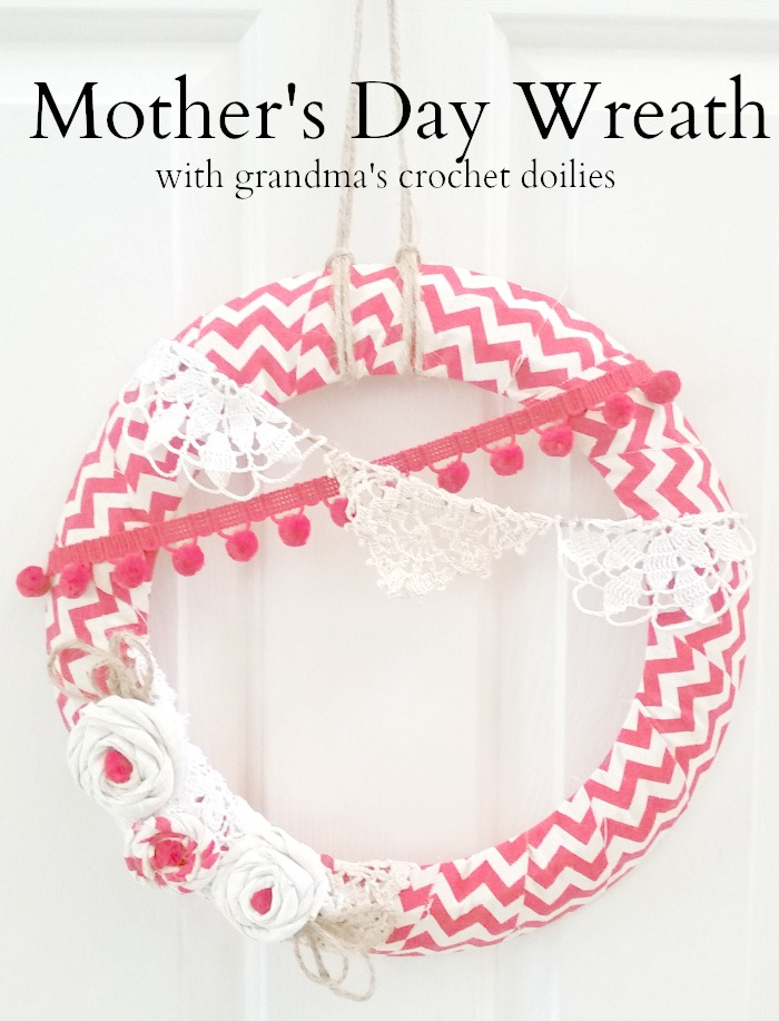 Mother's Day Doily Wreath