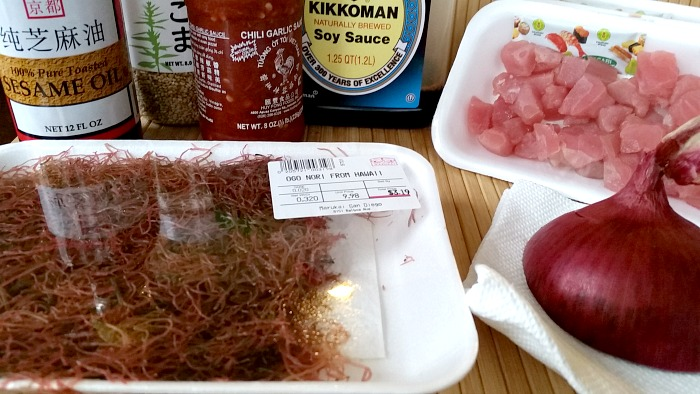 Ahi Poke Ingredients