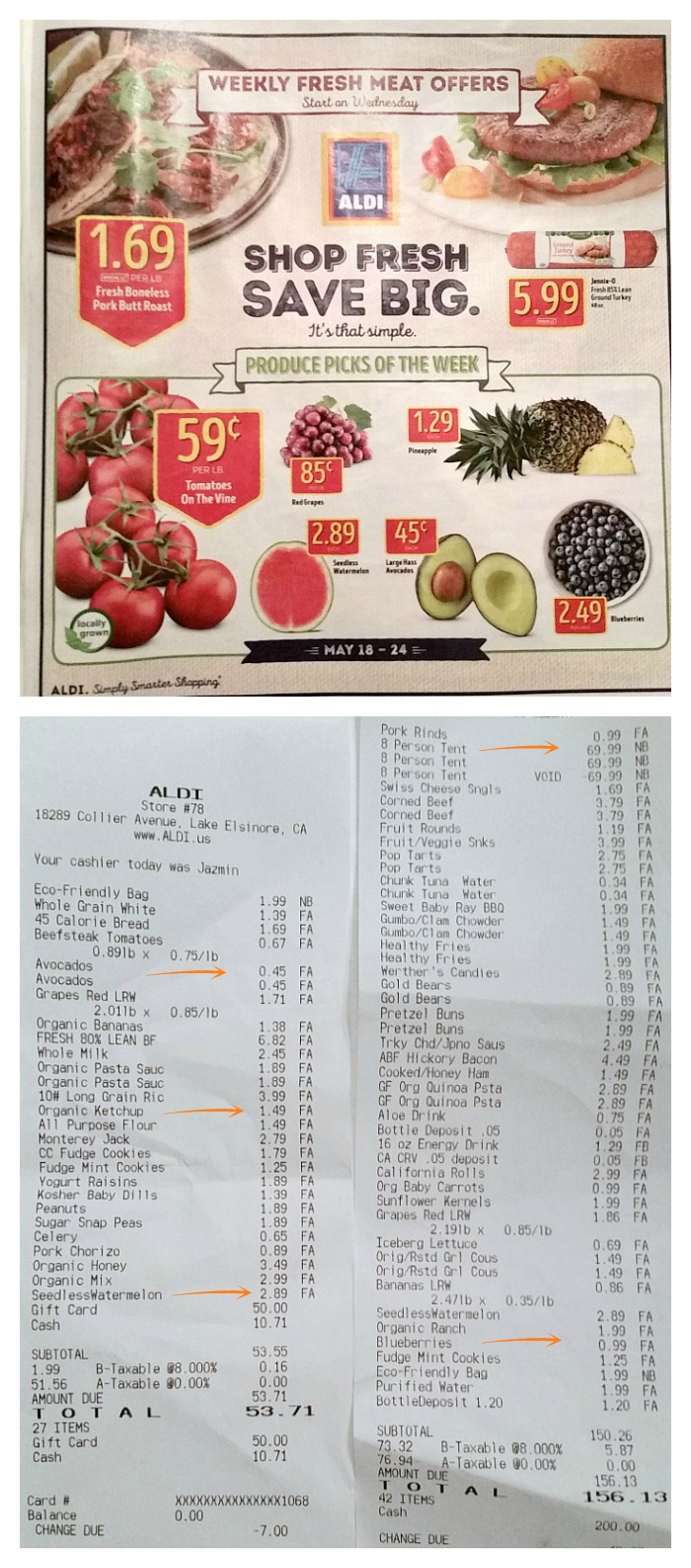 ALDI Receipts