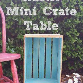 DIY Rustic Mini Crate Table