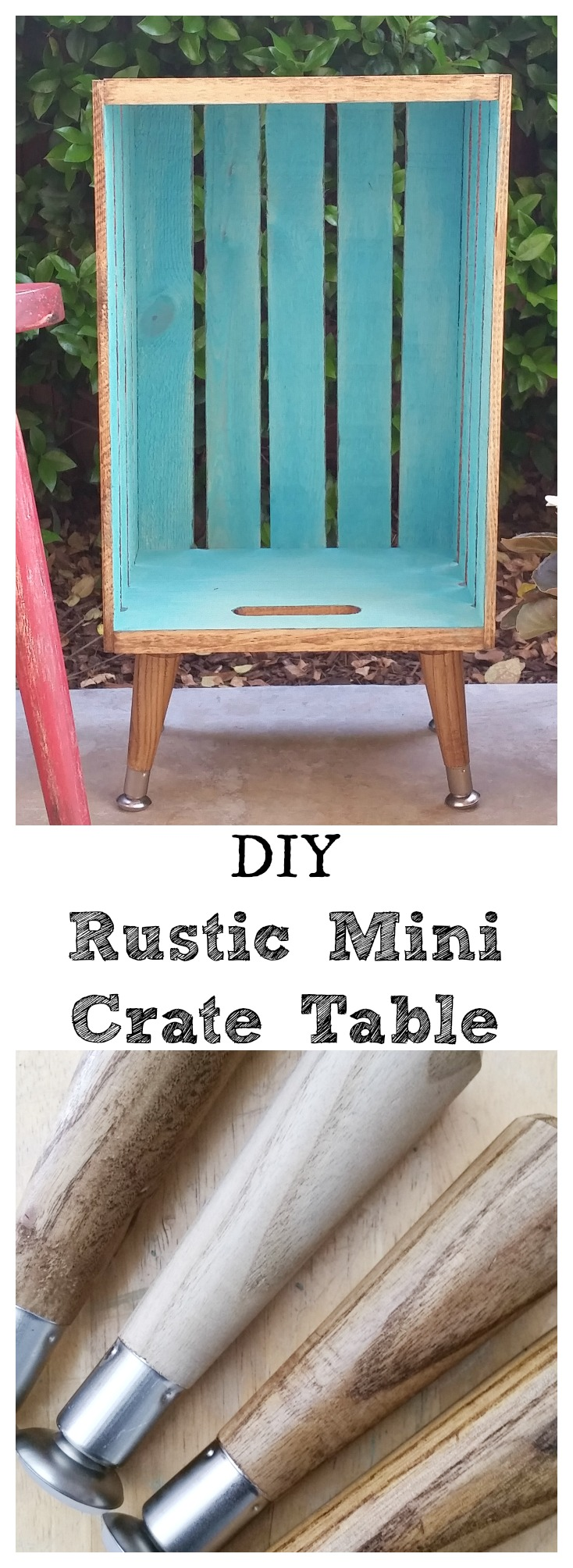 DIY Rustic Mini Crate Table