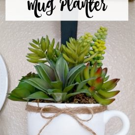 May Thrift Store Upcycle – Faux Succulent Mug Planter