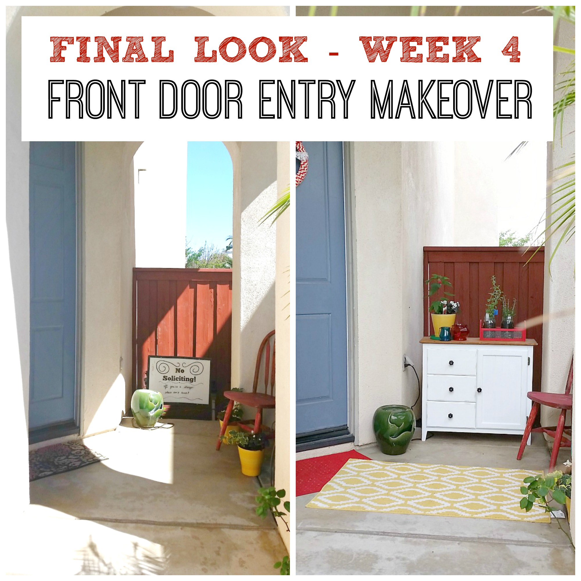Final look -front door entry makeover