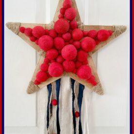 Thrift Store Swap – Patriotic Star Wreath