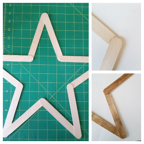 Creating the star wreath form