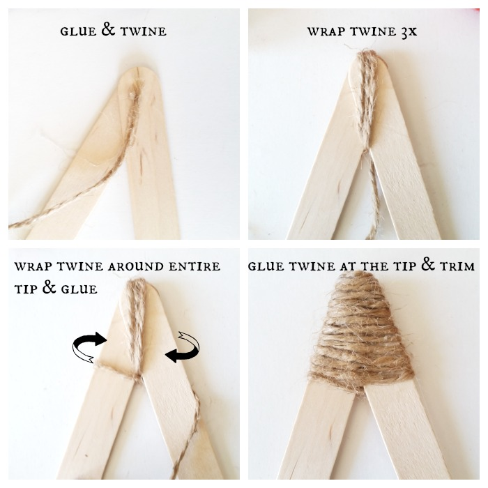 Twine on star tips
