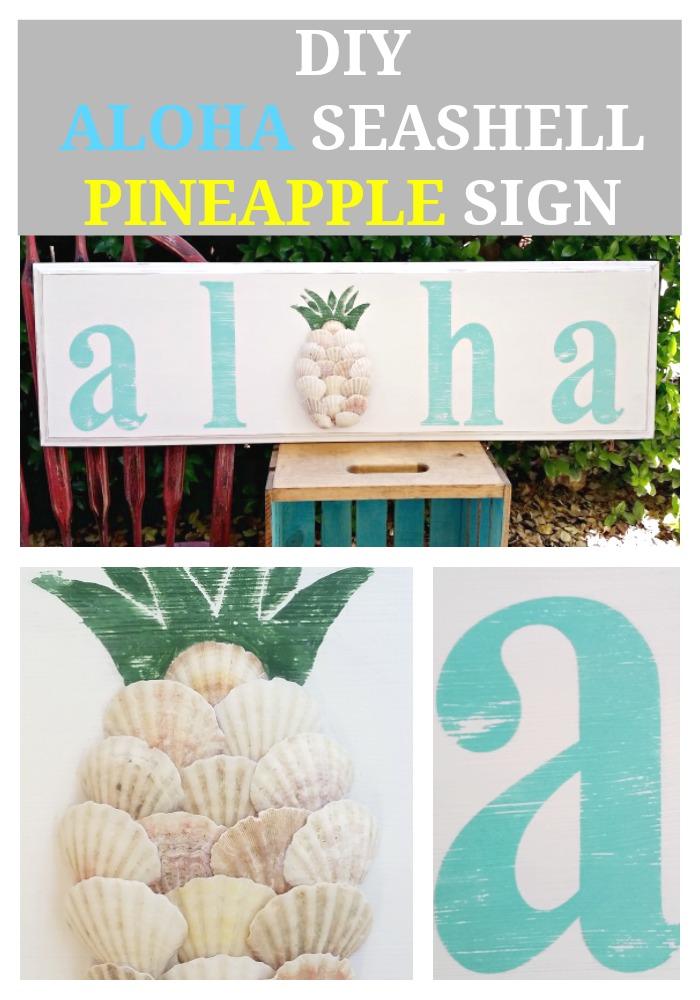 DIY-Aloha-Seashell-Pineapple-Sign
