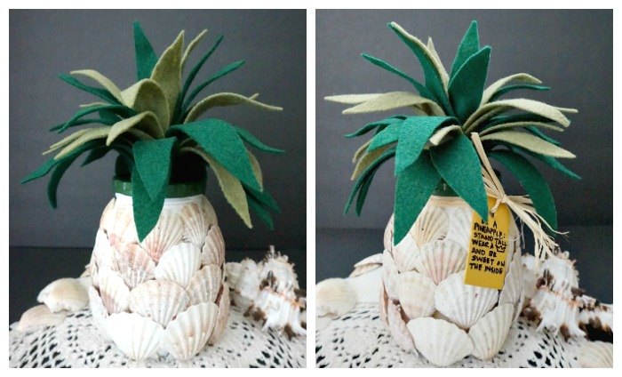 DIY Seashell Pineapple