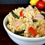 Shrimp & Asparagus with Garlic & Parsley Pearl Couscous Bowl