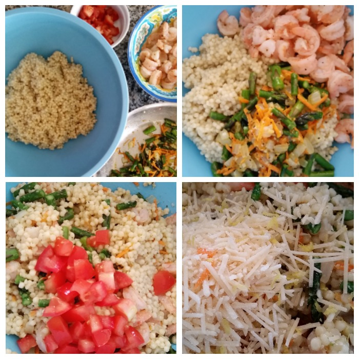 Shrimp & Asparagus with Garlic & Parsley Pearl Couscous Mix