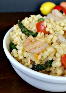 Shrimp & Asparagus with Garlic & Parsley Pearl Couscous