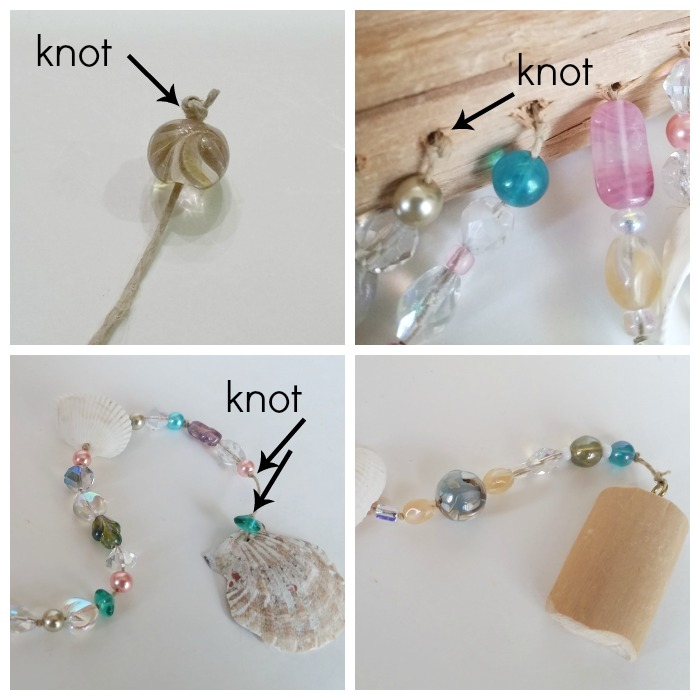 windchime bead and shell string