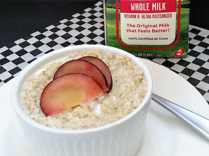 a2 Milk breakfast closeup