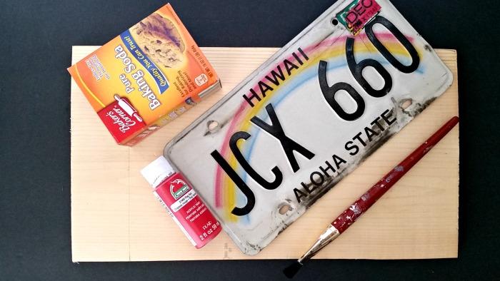 License plate art supplies