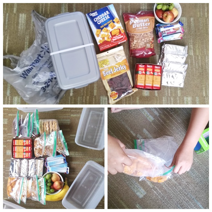 Creating Road Trip Survival Snack Boxes