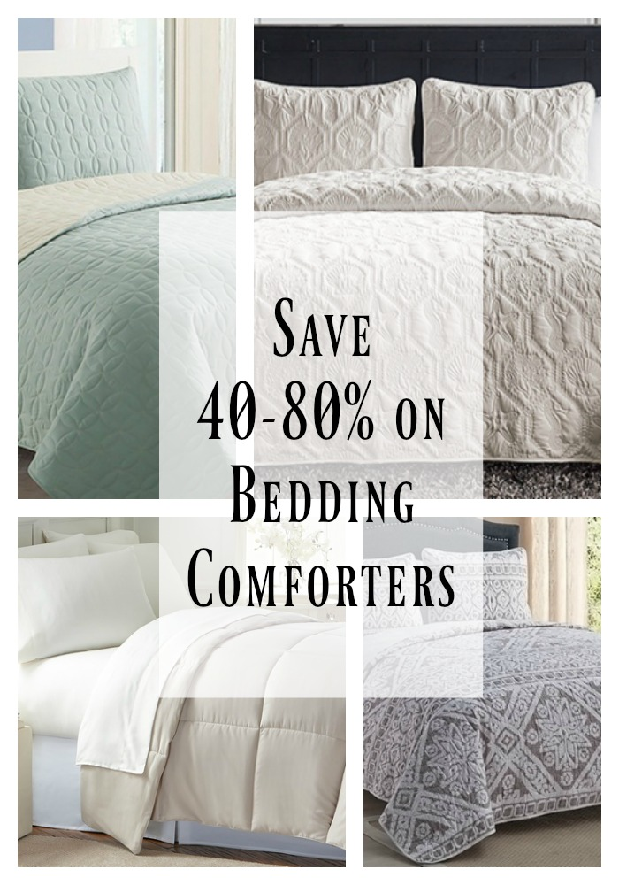 Save 40-80% on bedding comforters on Groupon