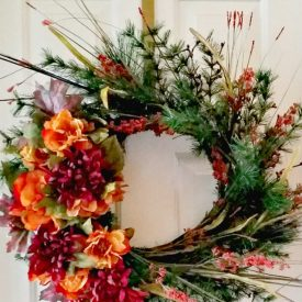 Simple DIY Fall Floral Wreath – Thrift Store Decor Upcycle Challenge