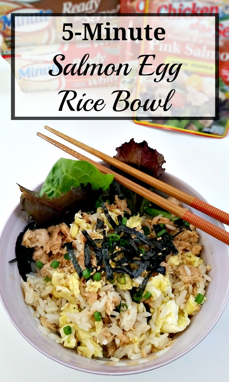 5-minute Salmon Egg Rice Bowl Recipe