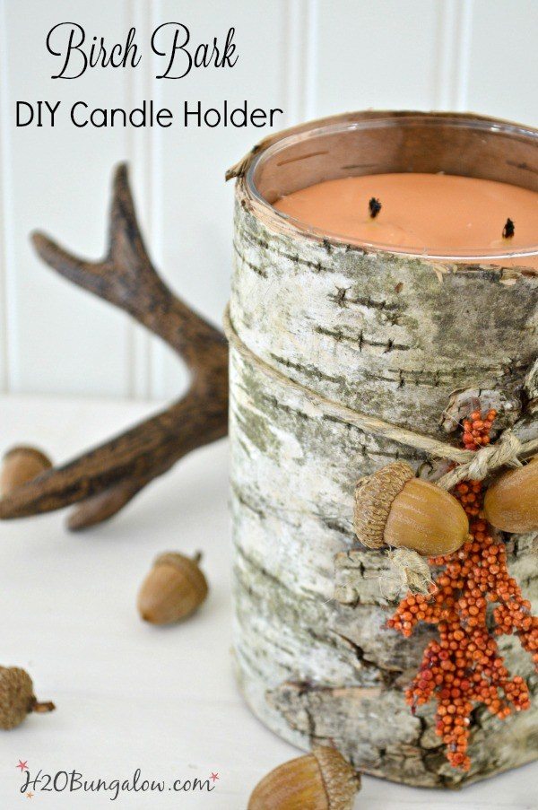 Easy Birch Bark DIY