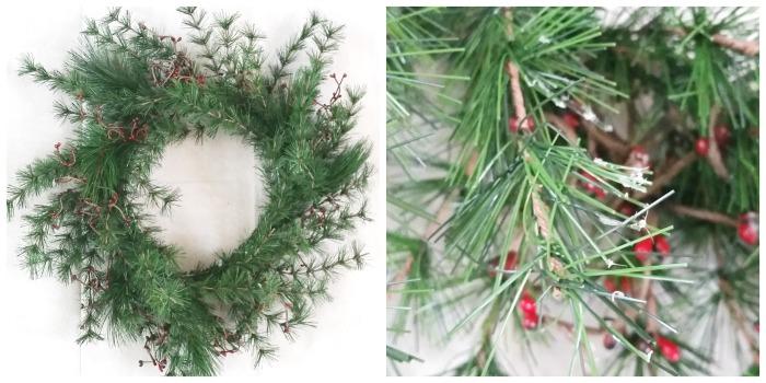 Wreath stripped