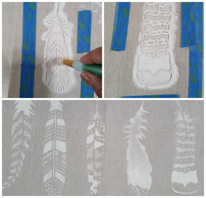 Cutting Edge Stencil Feathers