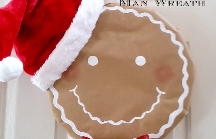 How to Make a Simple Santa Gingerbread Man Wreath