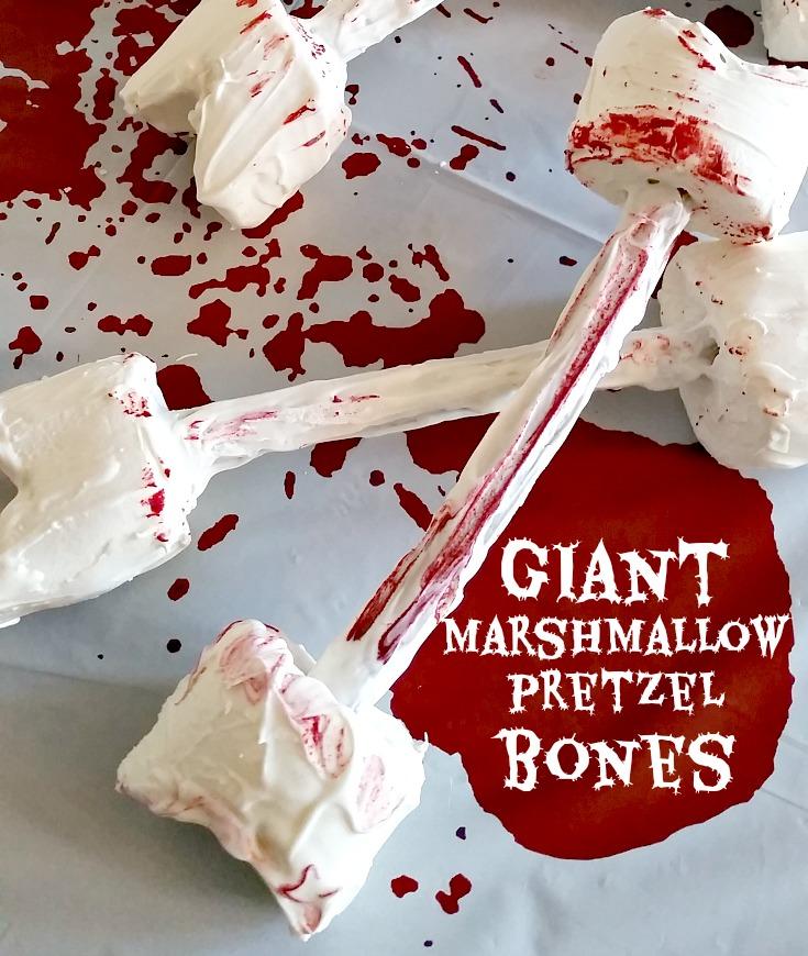 Giant Marshmallow Pretzel Bones