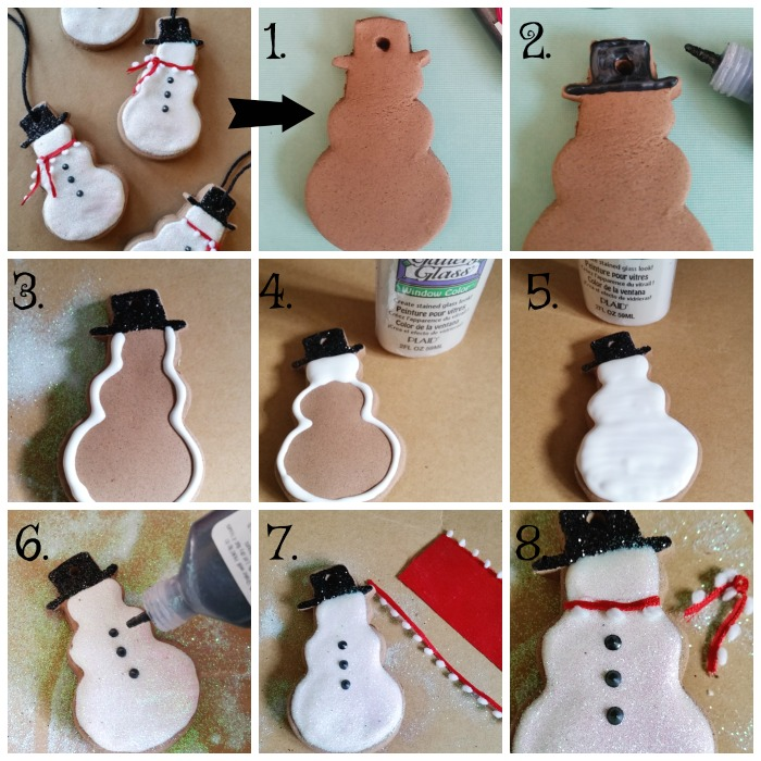 Baking Soda Gingerbread Snowman