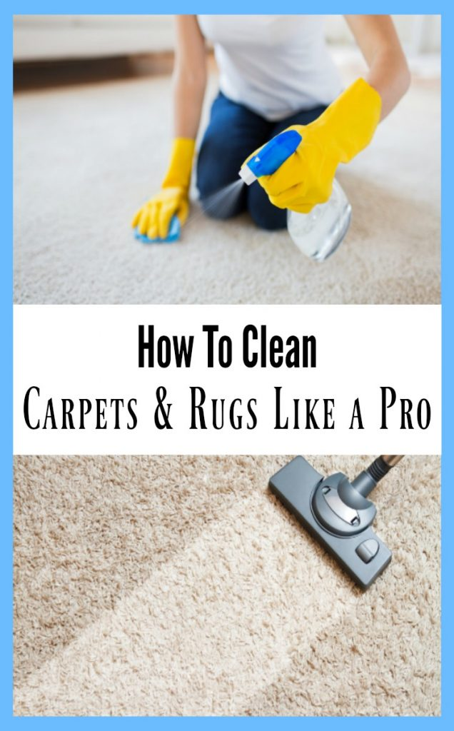 How to clean carpets and rugs like a pro!