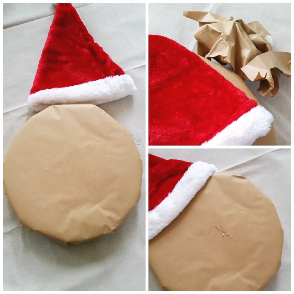 Santa Gingerbread man hat
