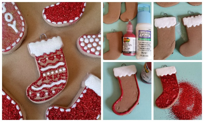 Baking Soda Gingerbread Stocking Ornaments
