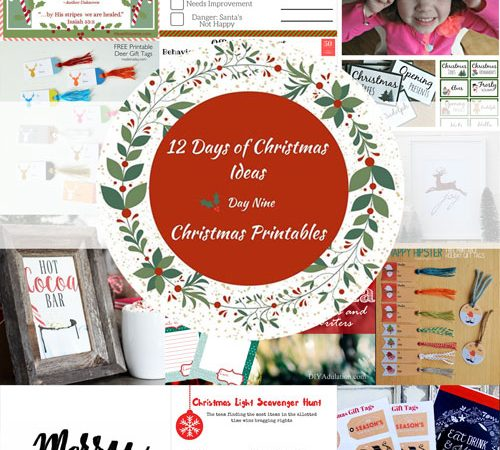 12 Days of Christmas Ideas – FREE Christmas Printables