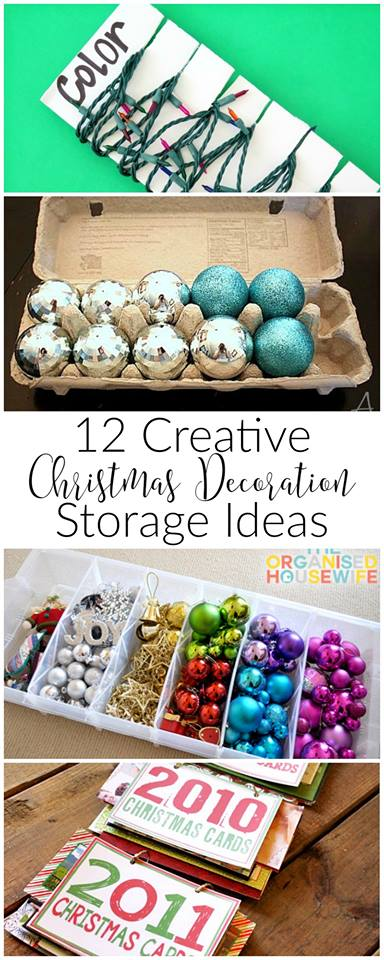 12 Creative Christmas Decor and Storage Ideas