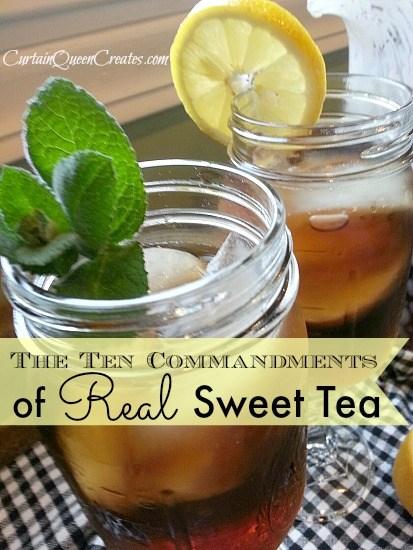 The Ten Commandments of Real Sweet Tea