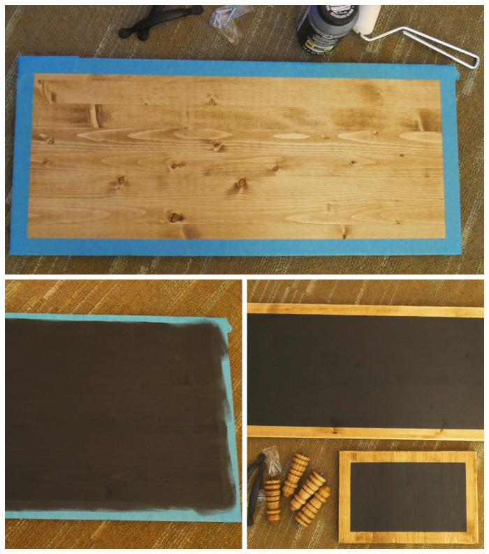 DIY Chalkboard Serving Tray Painted