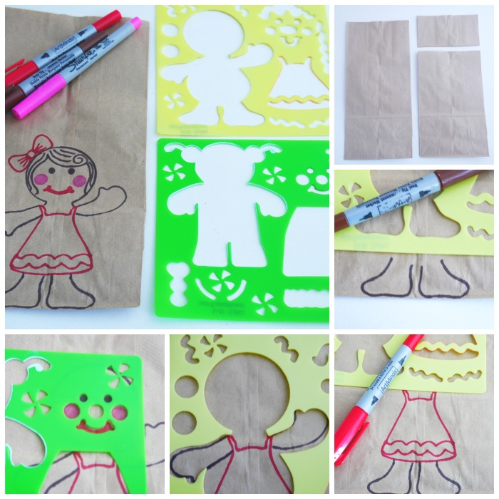 Gingerbread paper bag gift wrap person