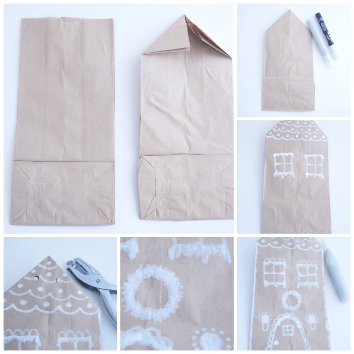 Gingerbread paper bag house