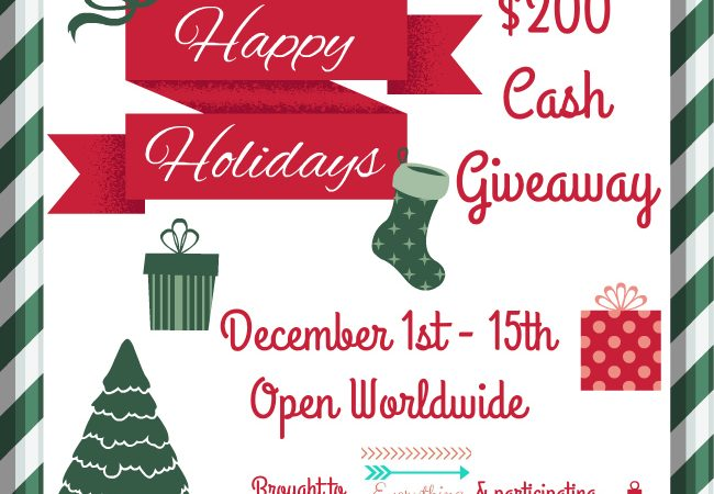 $200 Happy Holidays Giveaway – Cash Cash Baby!